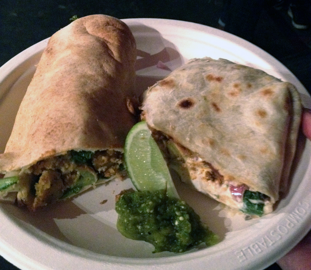 "Chicken"" Caesar & Ancho Chili Lime Tofu Wrap"