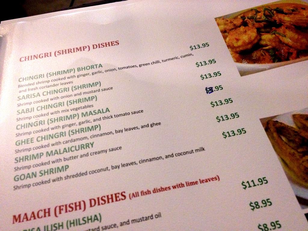 Bengal restaurant let 39 s om nom for Arman bengal cuisine dinas menu