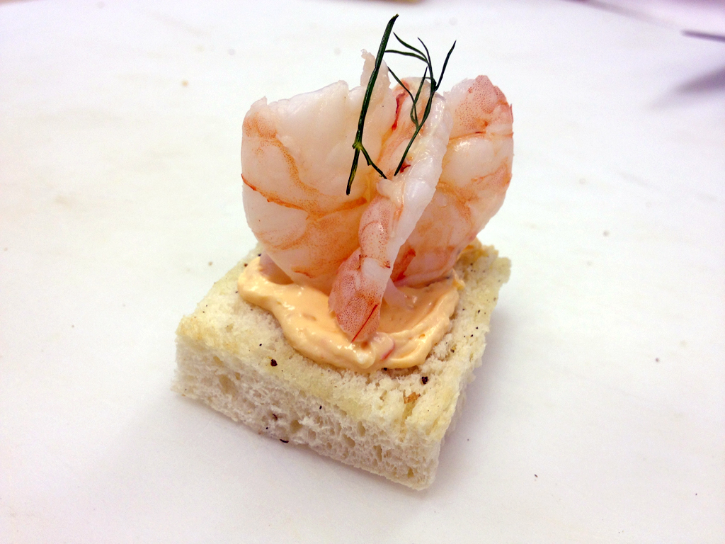 Class kitchen skills i art of garde manger let 39 s om nom for Cream cheese canape