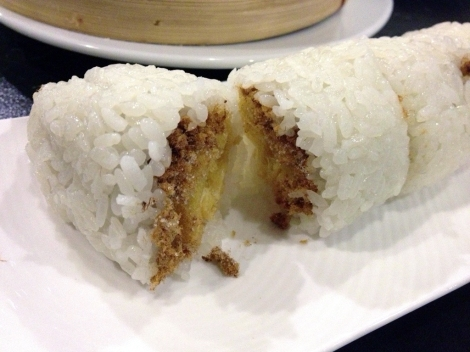 Steamed Rice Wrapped Donut