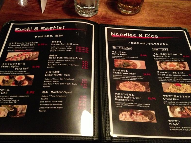 Sushi and Sashimi / Noodles and Rice