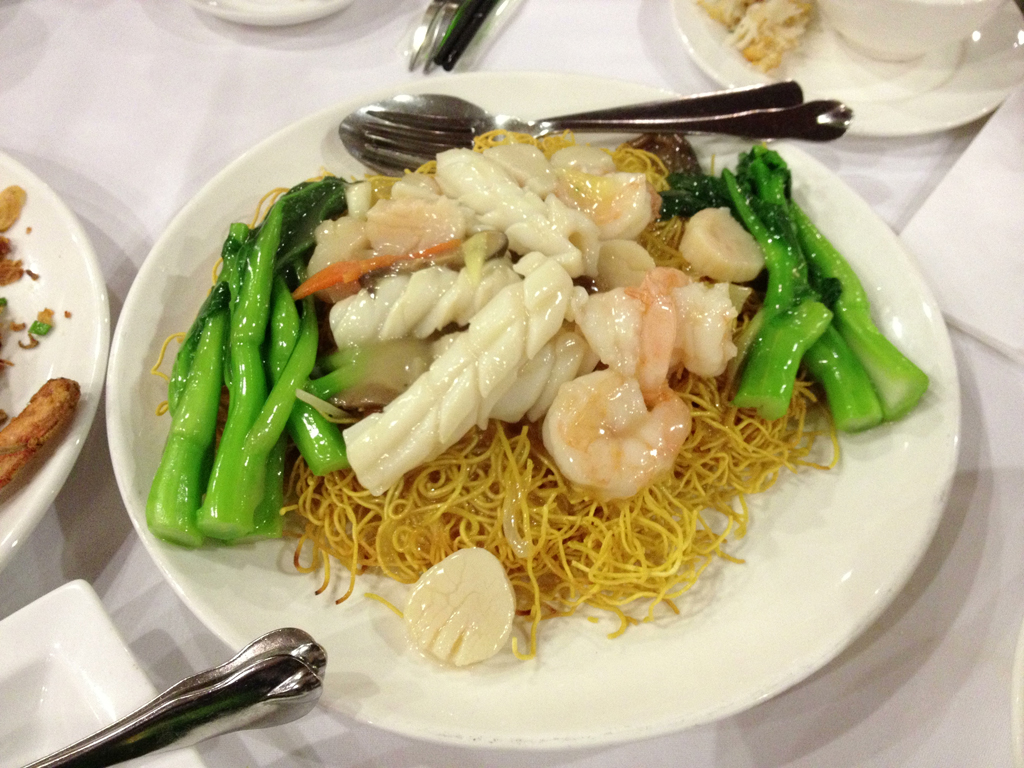 Seafood Chow Mein