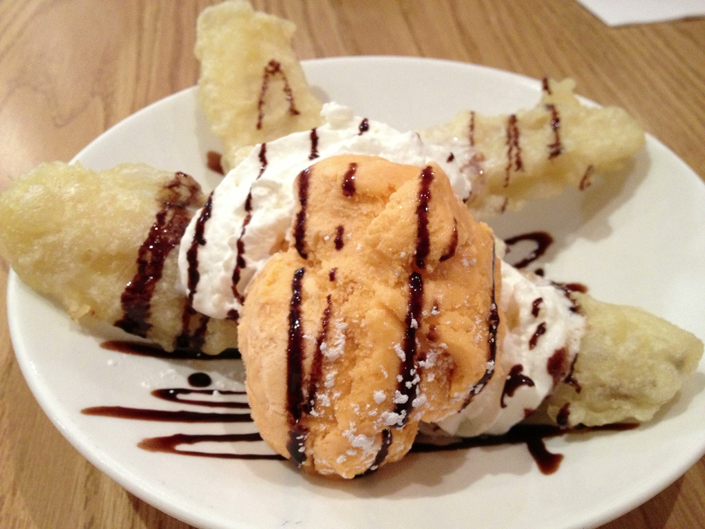 Tempura Banana and Mango Ice Cream