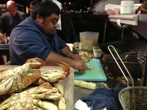 Preparing Fresh Crabs