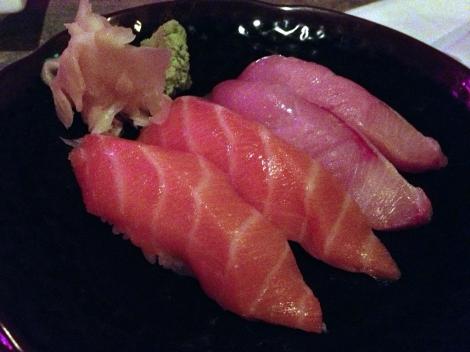 Salmon and Hamachi Nigiri