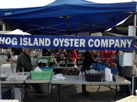 Hog Island Oyster Company Booth