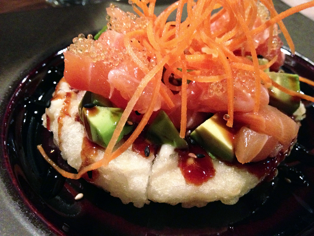Salmon Sushi Pizza