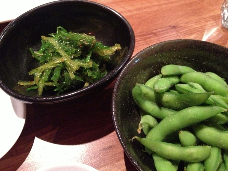 Seaweed Salad and Edamame
