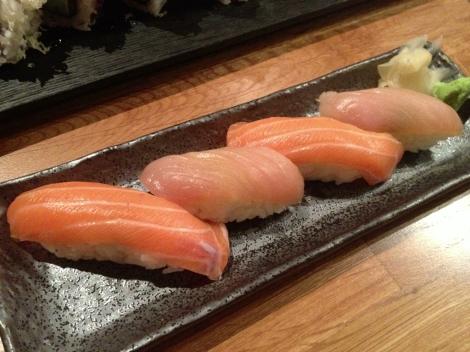 Salmon and Tuna Nigiri